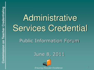 Administrative Services Credential