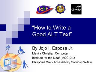"""How to Write a  Good ALT Text"""
