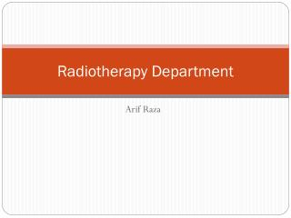 Radiotherapy Department