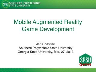 Mobile Augmented Reality Game Development
