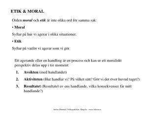 ETIK & MORAL