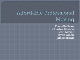 Affordable Professional Moving