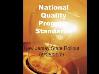 National Quality Program Standards