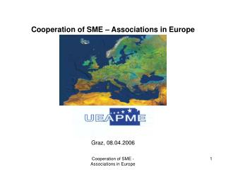 Cooperation of SME – Associations in Europe Graz, 08.04.2006