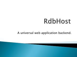 RdbHost