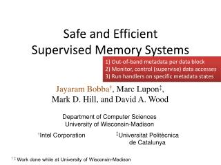 Safe and Efficient  Supervised Memory Systems