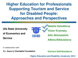 Higher Education and Disability, Innsbruck, 2013