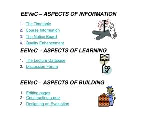 EEVeC   ASPECTS OF INFORMATION
