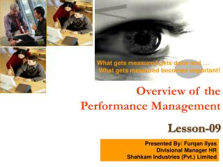 Overview of the Performance Management Lesson-09