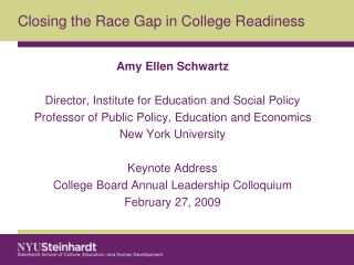 Closing the Race Gap in College Readiness