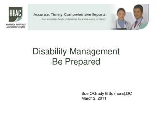 Disability Management Be Prepared