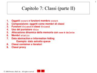Capitolo 7: Classi (parte II)