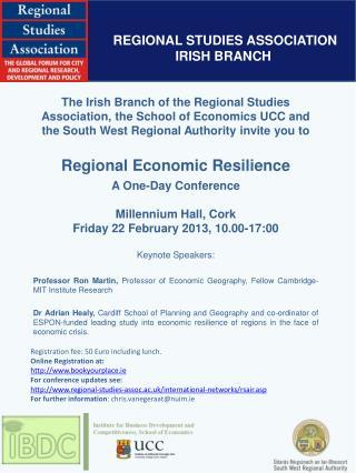 REGIONAL STUDIES ASSOCIATION IRISH BRANCH