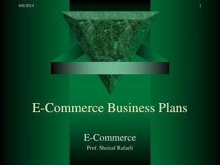 E-Commerce Business Plans