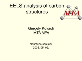 EELS analysis of carbon structures