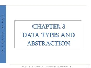 Chapter 3 Data types and Abstraction