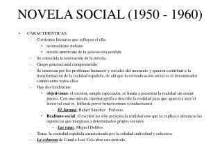NOVELA SOCIAL (1950 - 1960)
