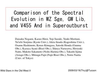 Comparison of the Spectral Evolution in WZ Sge, GW Lib, and V455 And in Superoutburst