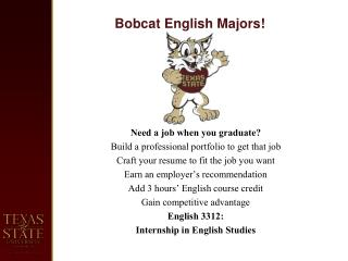 Bobcat English Majors !