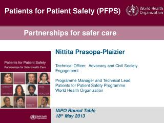 Partnerships for safer care