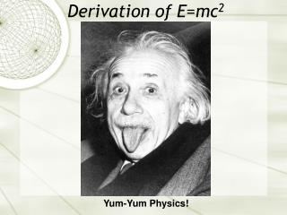Derivation of E=mc 2