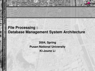 File Processing :  Database Management System Architecture