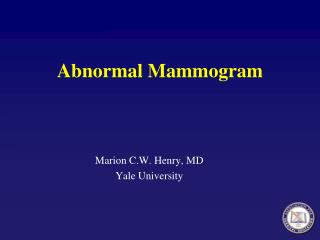 Abnormal Mammogram
