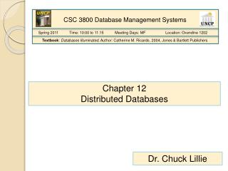 Chapter 12 Distributed Databases