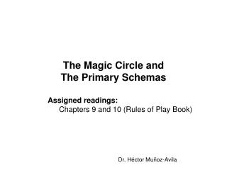 The Magic Circle and The Primary Schemas