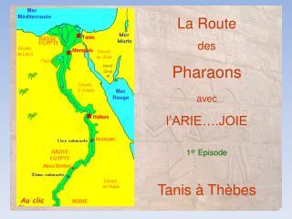La Route des  Pharaons avec l'ARIE….JOIE 1 er  Episode Tanis à Thèbes