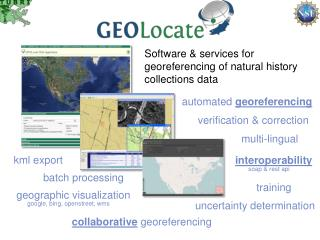 Software & services for georeferencing of natural history collections data