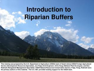 Introduction to  Riparian Buffers