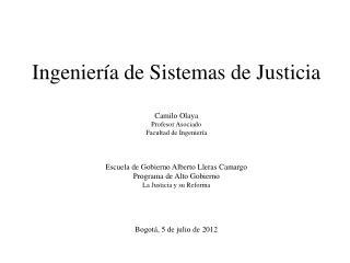Ingenier�a de Sistemas de Justicia