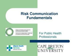 Risk Communication Fundamentals