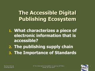 The Accessible Digital Publishing Ecosystem