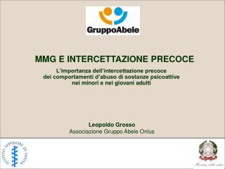 MMG E INTERCETTAZIONE PRECOCE