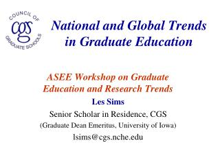 National and Global Trends in Graduate Education