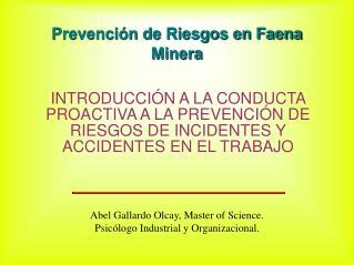 Prevención de Riesgos en Faena Minera