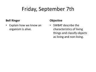 Friday, September 7th