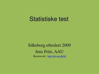 Statistiske test