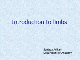 Introduction to limbs
