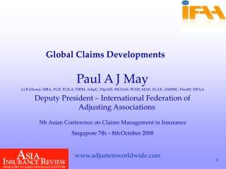 Paul A J May