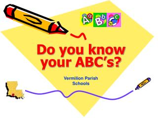 Do you know your ABC's?