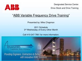 """ ABB Variable Frequency Drive Training """