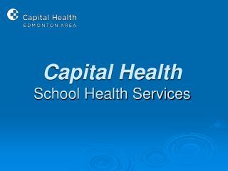 Capital Health School Health Services