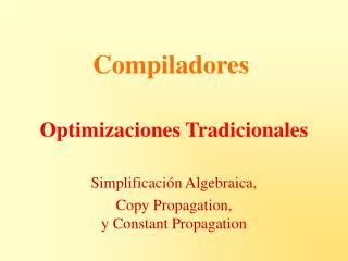 Optimizaciones Tradicionales