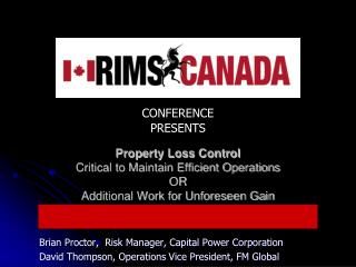 Brian Proctor,  Risk Manager, Capital Power Corporation