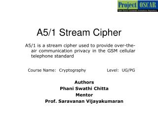 A5/1 Stream Cipher