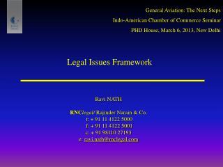 Legal Issues Framework