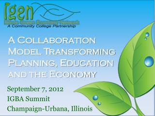 A Collaboration Model Transforming Planning, Education and the Economy